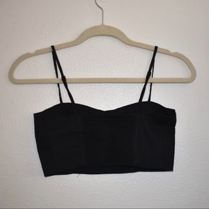 BNWOT Brandy Melville Black Cropped Tank Top